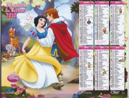 Almanach Du Facteur 2011 ,DISNEY - Calendars