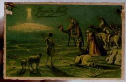 CP Ancienne Joyeux Noël Ed CCM 2525-4 - Mouton Chameau étoile - Cp écrite - Natale