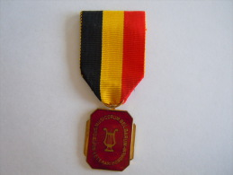 Medaille Muziek Musique Emaille Lier  Foedus Musicorum Belgarum In Veterani Honorem - België