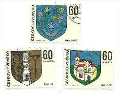 1973 - Cecoslovacchia 1989/91 Stemmi C2578, - Francobolli