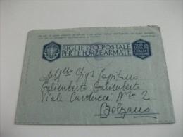 STORIA POSTALE MILITARE  BIGLIETTO POSTALE PER LE FORZE ARMATE  FRASE DI MUSSOLINI GLI ATTI DI VALORE ..REPARTO 37 BIS . - 1900-44 Vittorio Emanuele III