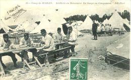 N°33725 -cpa Camp De Mailly -artillerie En Manoeuvre- La Soupe Au Campement- - Manovre
