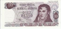 Argentina 10 Peso 1973 Pick 289 UNC - Argentine
