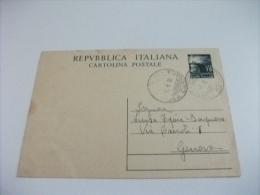 CARTOLINA POSTALE REPUBBLICA ITALIANA  LIRE 15 ANNULLO MASSA CARRARA - 6. 1946-.. Repubblica