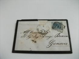 STORIA POSTALE ITALIANA BUSTA + LETTERA CON FRANCOBOLLO DA 20 CENT  1876 - 1861-78 Vittorio Emanuele II