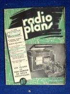 Revue RADIO PLANS #42 (AVRIL 1951) TSF TELEVISION AMPLIFICATEUR RECEPTEUR VOLTMETRE TRANSFORMATEUR ! - Literature & Schemes