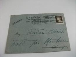 STORIA POSTALE ITALIANA STAMPE GAETANO PIROLI  DITTA PRESSO IL MERCATO BESTIAME ROMA - 1900-44 Vittorio Emanuele III