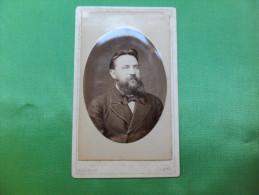 ANCIENNE  PHOTO  SUR CARTON  / PORTRAIT D' HOMME  /  CHAPUIS - MONS - Anciennes (Av. 1900)