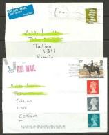 GREAT BRITAIN England 2 Air Mail Covers To Estland Estonia Estonie 2013 With Queen Elizabeth II Stamp Etc - 1952-.... (Elizabeth II)