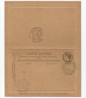 - Lettre - MADAGASCAR - Carte Lettre  Corps Expeditionnaire - Oblitérée - 1895 - Cartas