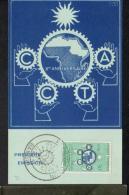 AFRIQUE - REPUBLIQUE CENTRAFRICAINE - CARTE MAXIMUM - COMISSION DE COOPERATION - Zentralafrik. Republik