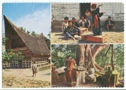 Indonesia, Batak House, Isle Of Samosir, Lake Of Toba, North Sumatra, 1974 Used Postcard [14030] - Indonesia