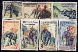 Laos N° 44  / 50  X  Eléphants,  La Série Des 7 Valeurs   Trace De Charnière Sinon TB - Laos