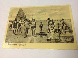 FALCONARA - Spiaggia, Animata - Cartolina FG V 1939 - Altre Città