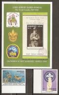 SCOUTS - MALDIVAS 1991 - Yvert #H205+1401/02 - MNH ** - Movimiento Scout
