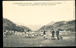 73 ALBERTVILLE / Champ De Manoeuvres Du 22e Alpins, Vue Générale Des Adoubbes / - Albertville