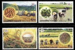 1999 Thailand Thai Rice Farm Stamps Food Farmer Tractor - Unclassified