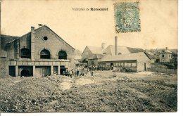 2 Scans - 76340 NESLE-NORMANDEUSE - Verreries De ROMESNIL - Timbre Perforé CB - France