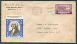 1941 USA Washington, Indiana -  George Washington Vignette Cover