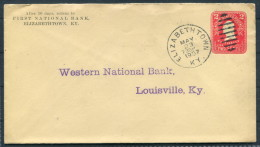 1907 USA Elizabethtown, KY - First National Bank Stationery Cover - Western National Bank, Louisville - United States