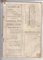 PFM/22 CAMPIONARIO STOFFE-ATTREZZI CUCITO-DITALI-BOTTONI-FER RI-DISTINTIVI GERMAN GOODS 1913 - Ditali Da Cucito