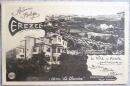 Souvenir Bonjour De EREZEE Hotel La Clairiere Val Aisne Pas Voyagé +- 1930 - Erezee