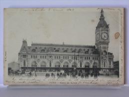 PARIS - GARE DE LYON - ANIMEE - DOS SIMPLE - 1902 - Pariser Métro, Bahnhöfe