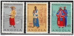 Angola 1957, Angolan Costumes, MNH - Angola