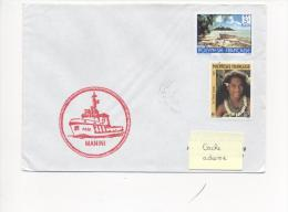 "REMORQUEUR "" MANINI"" - CAD CENTRE DE TRI FAAA 2/08/1991 Sur TP POLYNESIE - Postmark Collection (Covers)"
