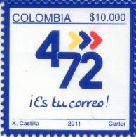 Lote 2678, Colombia, 2011, Sello, Stamp, 4-72, Es Tu Correo, Estampillas Operativas, $ 10.000 - Colombia