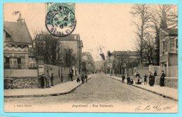 95 ARGENTEUIL. Rue Nationale. Animée - Argenteuil