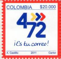 Lote 2679, Colombia, 2011, Sello, Stamp, 4-72, Es Tu Correo, Estampillas Operativas, $ 20.000 - Colombia