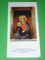 Madonna Dell´AIUTO Santuario In GORGONZOLA, Milano (Immagine Portata Dal Vescovo Di BOBBIO,Piacenza)  Santino - Images Religieuses