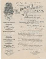 Facture Ancienne -  TOURS - Constructeur, Mécanicien, Machines à Vapeur Et à Battre - Brière Thévenas 1906 - Francia