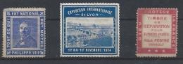 Timbres France - Commemorative Labels