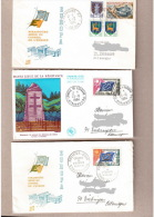 Frankreich Conseil De L`europe, Europarat CEPT 1964/65 3 Gelaufene Briefe - France