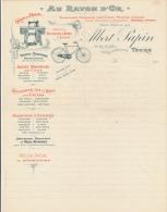 Facture Ancienne -  TOURS - Cycles, Machine à Coudre - Papin - Francia