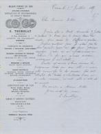 Facture Ancienne -  TOURS - Pressoirs, Machines Agricoles Et Vinicoles - Tremblay 1887 - Francia