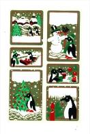 Autocollant Stickers Festifs / Pingouin Penguin Animal  // ADH 21/4 - Autocollants