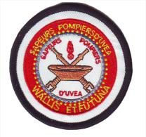 WALLIS ET FUTUNA FIRE DEPT. PATCH - ECUSSON POMPIERS- TISSU - FEUERWEHR ABZEICHEN - Firemen
