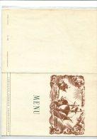 """LOT DE 3 MENUS  DU PAQUEBOT """"ILE DE FRANCE"""" Les 27 Et 28 .10.1953 - Menus"""