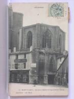 SAINT FLOUR (15 - ANCIENNE EGLISE COLLEGIALE NOTRE-DAME - DOS SIMPLE - 1906 - Saint Flour