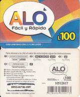 HONDURAS - ALO Prepaid Card L100, Used - Honduras