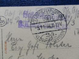 36/513   CP DE DOUAI    1916  CACHETS  ALLEMAND - Marcofilie (Brieven)