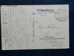 36/512   CP DE LAON    1916  CACHETS  ALLEMAND - Marcofilie (Brieven)