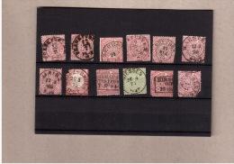 Norddeutscher Postbezirk/DR 12 Briefmarken Mit Guten Lesbaren Stempeln, Marken Beschädigt - Allemagne