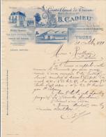Facture Ancienne - TOURS - Comptoir Agricole De Touraine - B. Cadieu 1899 - Francia