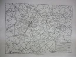 Belgique , Carte Du Brabant , Circa 1915 - Documents Historiques