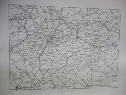 Belgique , Carte Du Brabant , Circa 1915 - Historische Dokumente