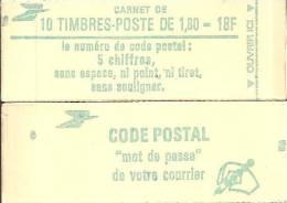 """CARNET 2375-C 1 Liberté De Delacroix """"CODE POSTAL"""" Fermé Daté 6/8/85 Parfait état Bas Prix - Usage Courant"""